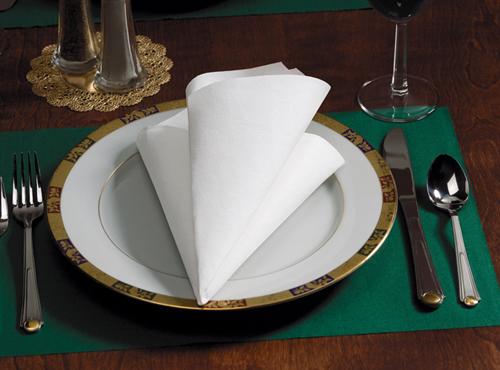 White FashnPoint Paper Dinner Napkins – 1/4 Fold
