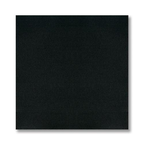 Black FashnPoint Paper Dinner Napkins – 1/4 Fold