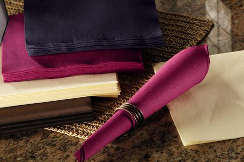 Burgundy FashnPoint Paper Dinner Napkins – 1/4 Fold