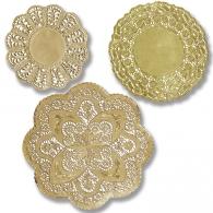 Gold Foil Paper Doilies