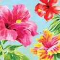 Hibiscus Floral Beverage Napkins