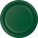 Hunter Green Paper Plates