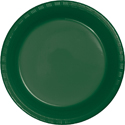 Hunter Green Plastic Plates