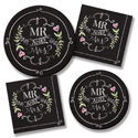 Mr. and Mrs. Chalk Party Supplies