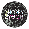 New Years Paper Plates