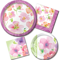 Pink Floral Party Supplies & Decorations