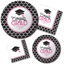 Pink Glam Graduation Party Supplies