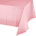 Classic Pink Plastic Tablecloths - 54 x 108 Inch