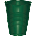Hunter Green Plastic Beverage Cups