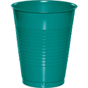 Tropical Teal Plastic Beverage Cups
