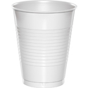 White Plastic Beverage Cups