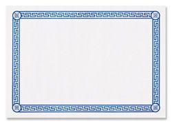 Blue Greek Key Paper Placemats