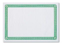 Green Greek Key Paper Placemats