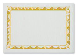 Gold Greek Key Paper Placemats - Recycled