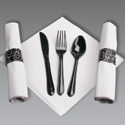 Pre-Rolled Napkins - Plastic Cutlery - Caterwraps