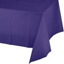 Purple Plastic Tablecloths - 54 x 108 Inch
