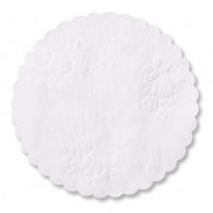 Rose Linen Paper Doilies
