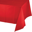 Classic Red Plastic Tablecloths - 54 x 108 Inches