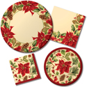 Rustic Poinsettia Recycled Christmas Party Supplies