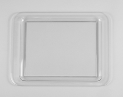 Clear Premium Plastic Serving Trays - 18 x 13 Inches