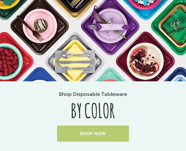 Solid Color Party Supplies & Tableware