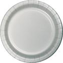 Silver Gray Paper Plates
