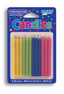 Birthday Cake Candles - Solids