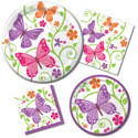 Spring Butterflies Paper Napkins & Party Plates