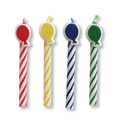 Striped Birthday Cake Candles