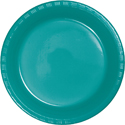 Tropical Teal Plastic Plates