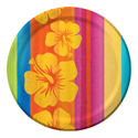 Tropical Stripes Paper Luncheon Plates