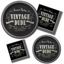 Vintage Men's Birthday Party Supplies
