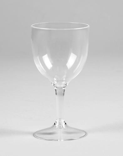Clear Premium Plastic Wine Glasses - 4 Ounces