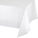 White Plastic Tablecloths - 54 x 108 Inch