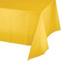 School Bus Yellow Plastic Tablecloths - 54 x 108 Inch
